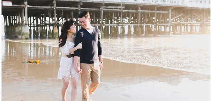 engagement engaged portraits san diego photographer crystal pier beach session north county love engagements  6082 700x335 - Americus & Jessica // Crystal Pier, Pacific Beach